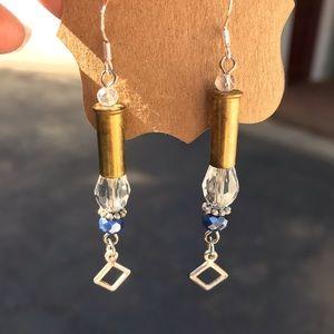 .22 Brass Caliber Drop Earrings